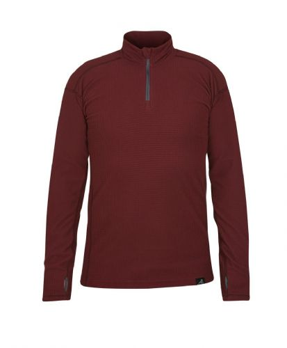 Paramo Men's Grid Technic Baselayer - Wine Red